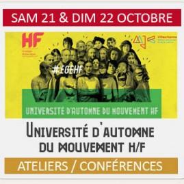 UNIVERSITÉ D'AUTOMNE DU MOUVEMENT H/F