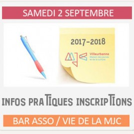Inscriptions 2017/2018