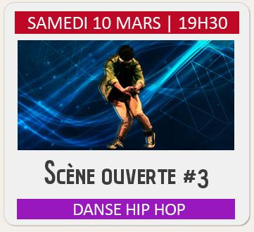 Scène ouverte danse hip hop