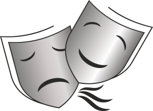 Masque théâtre riant et pleurant
