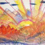 Soleil levant après l'hiver